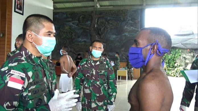 Dwi Cahyono saat menjalani salah satu tes untuk lulus PK TNI AD Gelombang I Tahun 2020